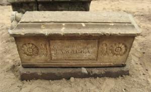 Надгробие на могиле купца Федора Дмитриевича Мамаева. 1861 год